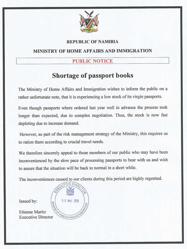 Shortage of Passport Books
